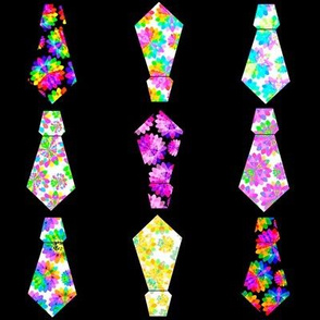 Multicoloured Neckties [set A15]