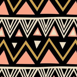 Tribal - Black Peach (Large)