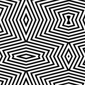Black white op art