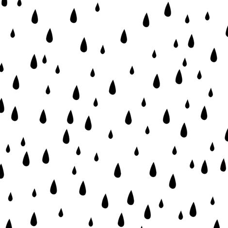 Drops - Black & White fabric by kimsa on Spoonflower - custom fabric