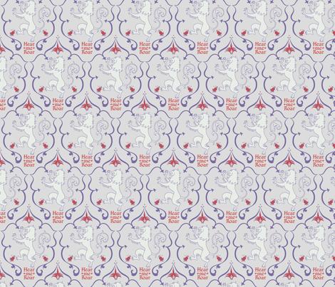 Hear me Roar - Colorway 03 fabric by aliceelettrica on Spoonflower - custom fabric