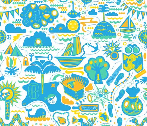 Treasure Island at Noon fabric by studio_amelie on Spoonflower - custom fabric