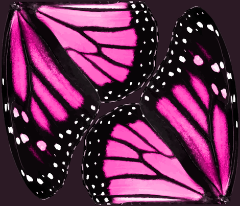 Pink Monarch Butterfly Wings fabric by bonnie_phantasm on Spoonflower - custom fabric