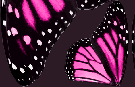 Giant Pink Monarch Butterfly Wings fabric by bonnie_phantasm on Spoonflower - custom fabric