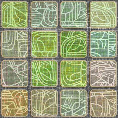 Danish Modern Squares Driftwood fabric by joanmclemore on Spoonflower - custom fabric