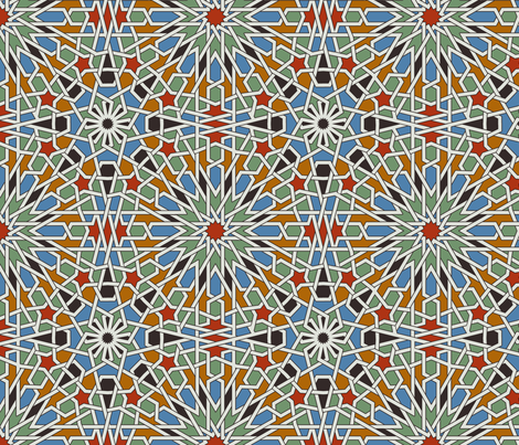 Moroccan Tile  fabric by redpumpkinstudio on Spoonflower - custom fabric