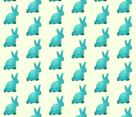 cestlaviv_bunnyJade fabric by cest_la_viv on Spoonflower - custom fabric