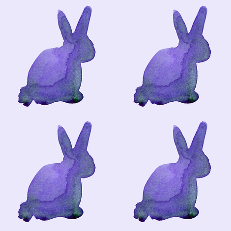 cestlaviv_bunny Mauve fabric by cest_la_viv on Spoonflower - custom fabric