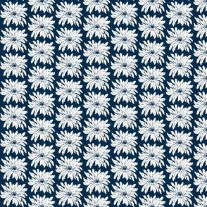 vanilla_daisy dark blue and white-ch