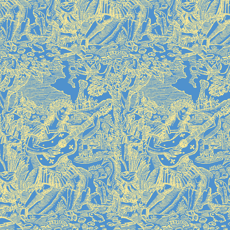Golden Orpheus fabric by amyvail on Spoonflower - custom fabric