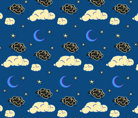 Counting Sheep fabric by alexaug on Spoonflower - custom fabric