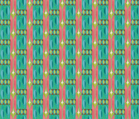 Abstracted Shield- Dawn fabric by sophista-tiki_by_dawn_frasier on Spoonflower - custom fabric