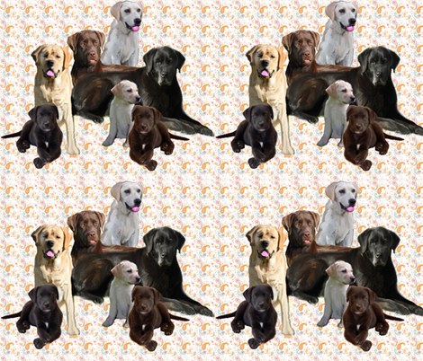 labrador retriever mural fabric by dogdaze_ on Spoonflower - custom fabric