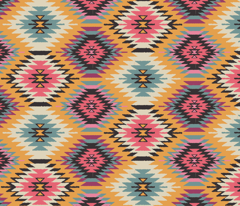 Navajo Dreams-Yellow fabric by bohemiangypsyjane on Spoonflower - custom fabric
