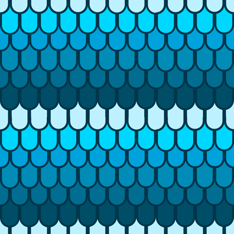 Blue fantasy scales fabric by daniellereneefalk on Spoonflower - custom fabric
