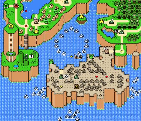 Mario world map timekeeperwatches super mario world map wallpaper sentfrommars spoonflower updated gumiabroncs Choice Image