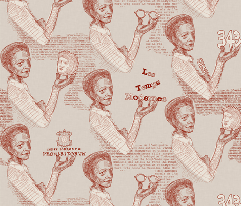 Toile de Simone fabric by mariaspeyer on Spoonflower - custom fabric