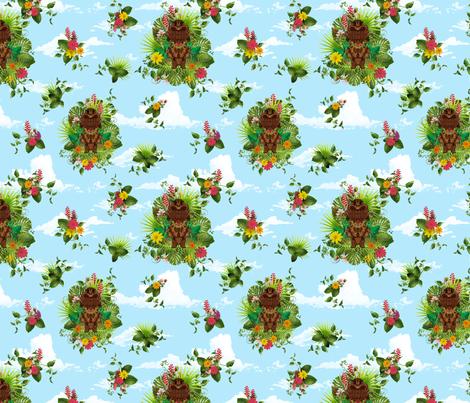 tiki cloud fabric by mcclept on Spoonflower - custom fabric