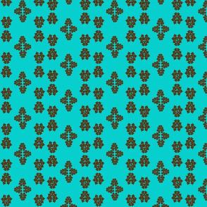 Hearts-brown teal