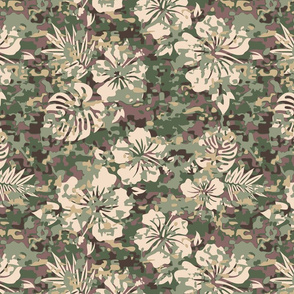 Camouflage Hawaiian Shirt Pattern