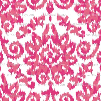 Pink Ikat Damask