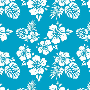 Blue Aloha Shirt Pattern