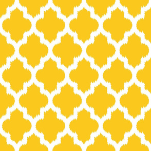 yellow moroccan ikat
