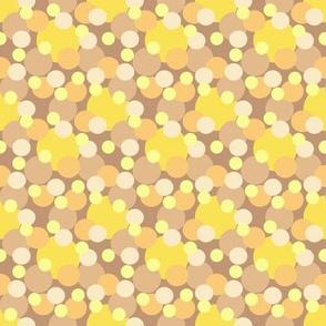 dots yellow brown