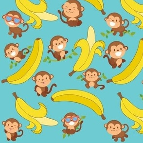Cute Little Banana Eaters