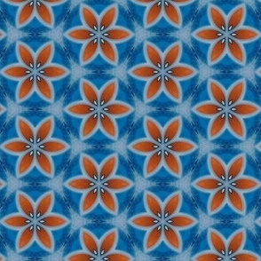 Blue and Red Flower
