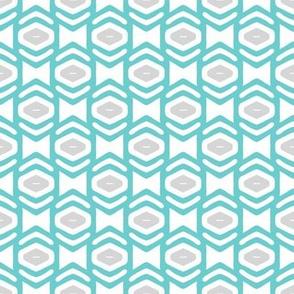 Modern Geometric Ogee in Blue