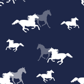 Running Horses on Navy