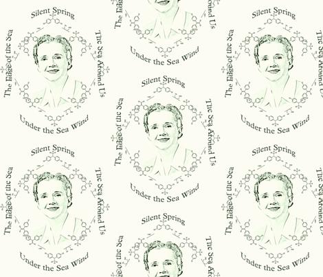 Rachel Carson toile fabric by dkdemott on Spoonflower - custom fabric