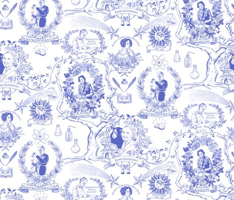 women of science and learning toile de jouy fabric vinpauld spoonflower. Black Bedroom Furniture Sets. Home Design Ideas