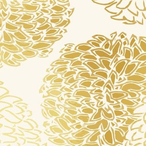Ming Chrysanthemum in Gold Dust