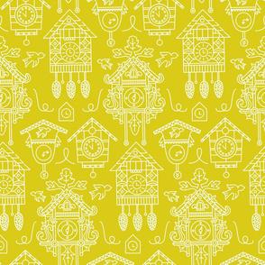 Clocks on Yellow