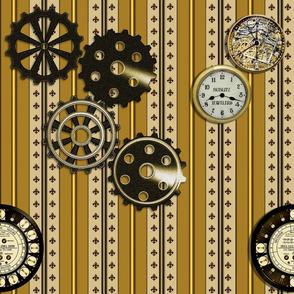Fleur de time with gears