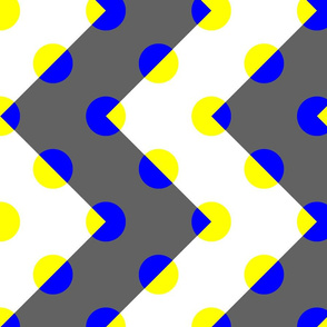 Transparent Polka Chevrons