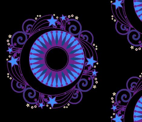 Bedtime Mandala fabric by new_earth_baby on Spoonflower - custom fabric