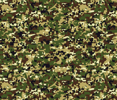 Faux Digital Woodland Camo fabric by stuckmotion on Spoonflower - custom fabric
