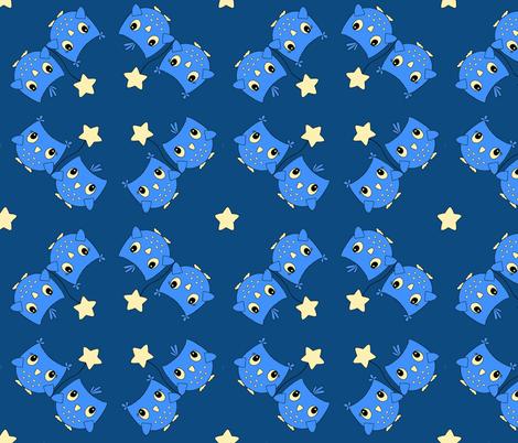 Midnight Owls fabric by jenniferarts on Spoonflower - custom fabric