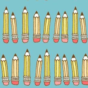 pencils - turquoise