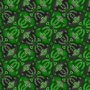 paisley hourglass green/grey