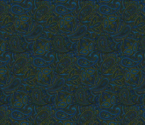 Paisley favorite colors fabric by craftyscientists on Spoonflower - custom fabric