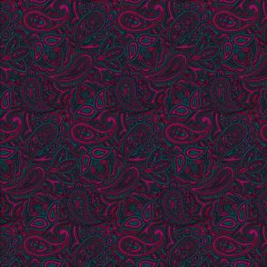 Paisley cyan/purple