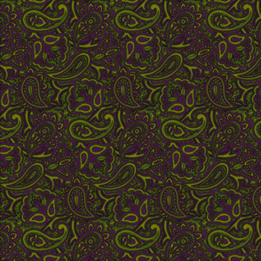 Paisley green/purp