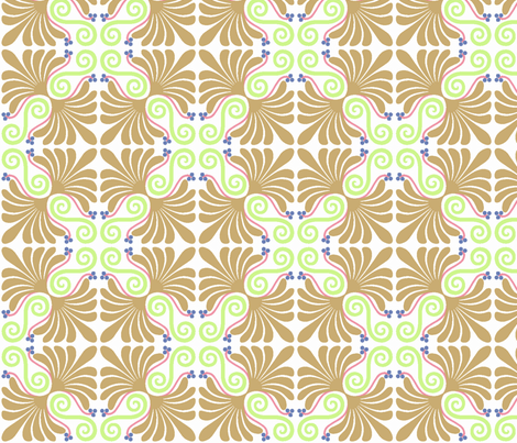 Palmette inverted fabric by craftyscientists on Spoonflower - custom fabric