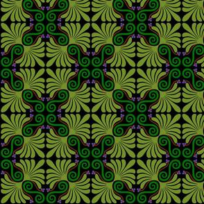 Palmette in green