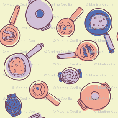Pots and pans - colorway 1