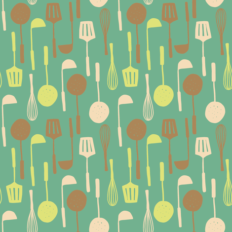Cooking - colorway 2 fabric by aliceelettrica on Spoonflower - custom fabric